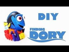 DIY: Como Fazer a Dory em Biscuit (Procurando Dory Tutorial) Ideias Personalizadas - DIY - YouTube