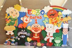 Anpanman and friends backdrop design