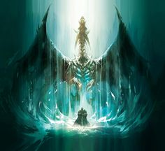 Sindragosa and Arthas by Bernie Kang