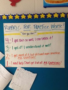 Love this rubric for practice work.