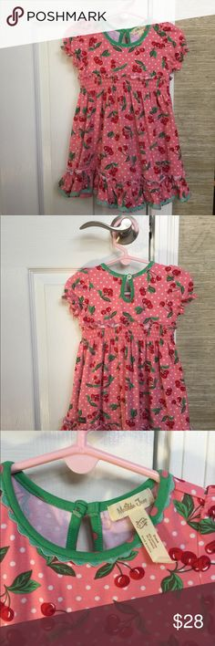 Matilda Jane Cherry Dress Adorable, 2-Piece MJ Dress, Perfect Condition, Worn Twice. Size 12-18 months may fit most size 2 girls, my little one wore it at 2, little shorter, very cute! Matilda Jane Dresses Casual