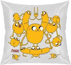 Adventure Time - Jake Kule Kendin Tasarla - Kare Yastık 40x40cm