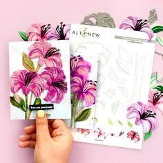 Anniversary Flowers, Anniversary Cards, Happy Anniversary, Altenew Cards, Watercolor Cards, Watercolor Paintings, Flower Cards, Birthday Cards, Birthday Images