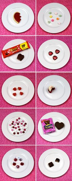 Find out how many calories those little Valentine's Day candies will run you.