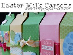 Easter Milk Cartons: FREE Download & Video Tutorial  kerry's paper crafts