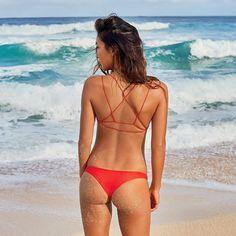 Red Hot  Shop @mikoh summer colors on BikiniBird.com #bikinibird