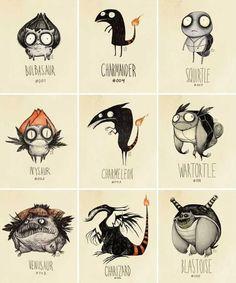 If Pokemon were drawn by Tim Burton… Vaughn Pinpin