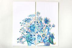 Blue Burst by Mary Jo Major