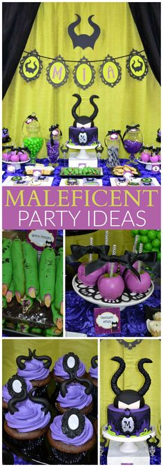 This Maleficent birthday party is just gorgeous! See more party ideas at CatchMyParty.com!