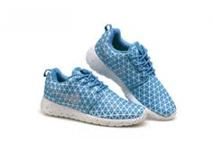 85b3084d5539 Women s Nike Roshe Run Metric QS Snorkel Blue Metallic Silver Cheap Nike  Roshe