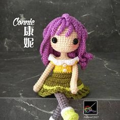 Crochet Doll Pattern - Connie 康妮