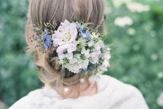 Seasonal wedding hair flowers