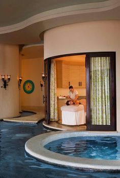 I had a facial in this room and then went for a swim in that pool.......what a blessing.