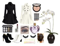 """""""Black & White"""" by lollipopgirl2757 ❤ liked on Polyvore featuring Giuseppe Zanotti, Sia, Shany, Vera Wang, Sephora Collection and Sigma Beauty"""