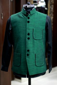 Ethnic Royal Green Jacket