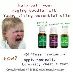 Tame your toddlers tantrums with Young Living essential oils. Peace & Calming. Lavender & Stress Away ►ID# 1900864
