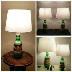 AmaroMontenegro's lamp #lamp #homemade #handmade #bottle #light