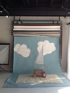 Pirate theme | @Kelly Teske Goldsworthy Saucedo check out this background set-up system -- all backgrounds on rolls and mounted on wall, so you just pull down which one you're using -- maybe you could re-create in your studio?