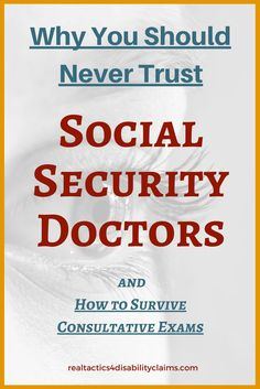 There are many reasons you should never trust Social Security Disability doctors. Learn the ins and outs of handling these medical exams the right way. Disability Help, Disability Insurance, Health Insurance, Fibromyalgia Disability, Dealing With Depression, Beat Depression, Fighting Depression, Social Security Benefits, Health