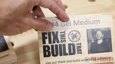wood printing with gel medium