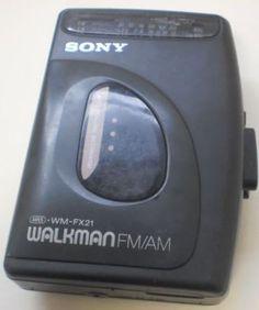 Sony Walkman WMFX21 AM/FM Stereo Cassette by ShopHereVintage, $30.00. The Walkman that I had!