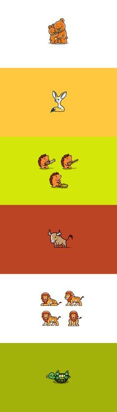 Cute animal logos pt. 2  #logo #design #identity #brand #cute #sweet #animal…
