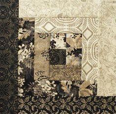 Moda Pre-cut 12 Block Log Cabin Quilt Kit - Black Tie Affair