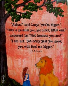 You are Bigger CS Lewis Quote Print on Wood by DebbieSaenz on Etsy, $30.00