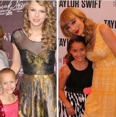 Brooke who is a cancer patient survivor got to meet Taylor then and now :)
