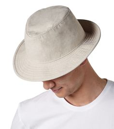 TOH2 FEDORA Style and protection is what you get with this cut 'n' sew fedora. Done in two great colours, this Hat is at home on urban streets; sipping bourbon on an outdoor patio; or playing in the sand on the beach.