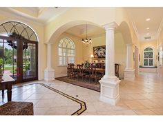 Classic Traditional Entry Foyer | Stongate North Naples - 7371 Stonegate Dr, Naples, 34109