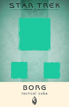 Borg Tactical Cube, Star Trek  Poster by Thomas Gately