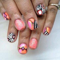 Hodge Podge - #pink #glitter #graphic #design #peach #yellow #black #white - bellashoot.com
