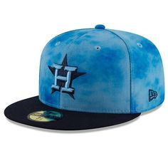 finest selection ab666 59541 Men s Houston Astros New Era Blue Navy 2019 Father s Day On-Field 59FIFTY  Fitted