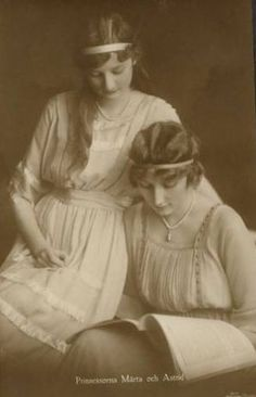 Astrid and Märtha, Princesses of Sweden, Queen Astrid of Belgium and Crown Princess Märtha of Norway