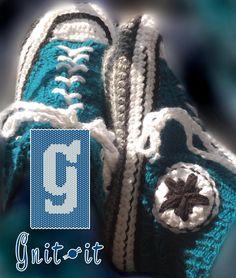 Gnit-it Star sneaker slippers Friendship Bracelets, Knits, Slippers, Stars, Knitting, Sneakers, Jewelry, Fashion, Tennis