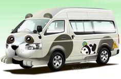 Japan. Panda-Kindergarten-Bus-Bus.