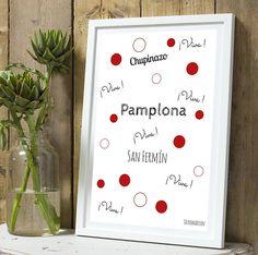 PRE COMMANDE Affiche citation Pampelune : Décorations murales par tauromarion