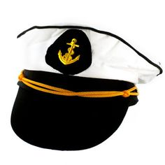 Sailor Captain's Hat for the Bride To Be #HelloSailor #Nautical #Costume #Bachelorette