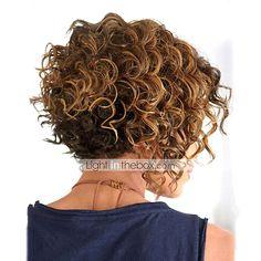 comprimento médio cabelo encaracolado luz tecer europeu cabelos mistos peruca de 4788503 2016 por R$114,26