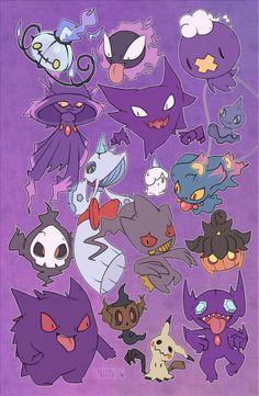 onisnow Updated my ghost pokemon print! Cute Pokemon Wallpaper, Wallpaper Iphone Cute, Cute Wallpapers, Fanart, Pokemon Fantasma, Kalos Pokemon, Cute But Psycho, Ghost Type Pokemon, Pokemon Halloween