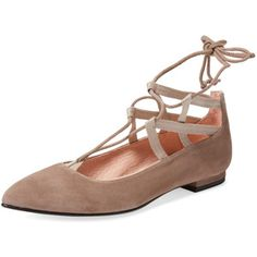 French Sole FS/NY Ophelia Ankle-Wrap Ballet Flat