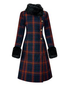 Joe Browns Favourite Check Coat   J D Williams Faux Fur Collar Coat, Fur Collars, Suits For Women, Clothes For Women, Ladies Suits, Great Gatsby Dresses, Check Coat, Swing Coats, Vintage Inspired Outfits