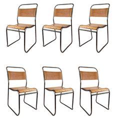 "Six English ""Pel"" Chairs ca1940"