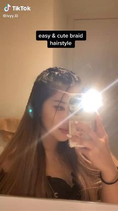 Hair Streaks, Hair Highlights, Color Highlights, Easy Hairstyles For Long Hair, Ponytail Hairstyles, Baddie Hairstyles, Hair Ponytail, Short Grunge Hair, Curly Hair Tutorial