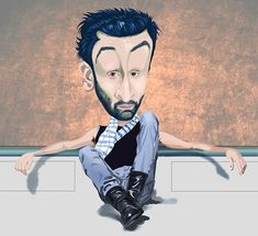 Ranbir Kapoor by Partho Sheel Library Icon, Poster Drawing, Aamir Khan, Ranbir Kapoor, Indian Art, Art Pieces, Cartoons, Funny Quotes, Handsome