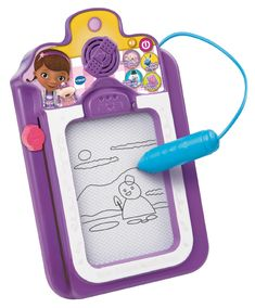 VTech Doc McStuffins Talk and Trace Clipboard Toy! Toddler toys that make learning fun and educational. Easy to use toddler toys. Great gift idea for toddler who like drawing! Toddler Toys, Baby Toys, Kids Toys, Girl Toddler, Learning Toys, Learning Activities, Doc Mcstuffins Toys, Doc Mcstuffins Costume, Magnetic Drawing Board