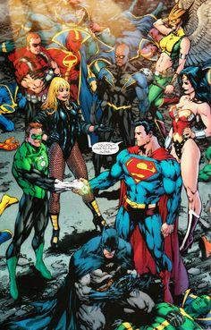 super-nerd:  Justice League by Ed Benes