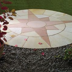 Star Circle Natural Stone Patio Paving Kit 2.4m