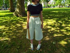 We're On Each Other's Team Part. II - Miriam makes a play for Sports Luxe, emphasis on the Luxe in a crop top, culottes and flatforms!